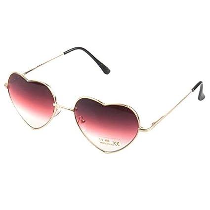 f18aa2448f9 Designeez Metal Heart Shaped Braces Support Sunglasses Reflective Mirror  Lens Fashion Luxury Sun Glasses Brand Designer