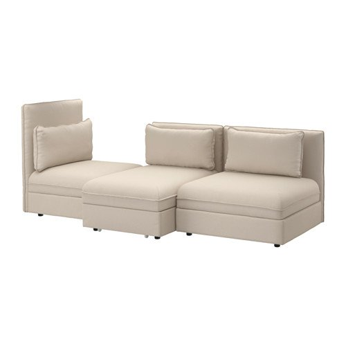 Ikea 3-seat Sleeper sectional, Orrsta beige 16204.141411.610