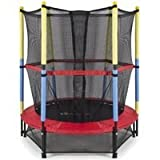 Round Kids Mini w/ Enclosure Net Pad Rebounder Outdoor Exercise Children's trampoline