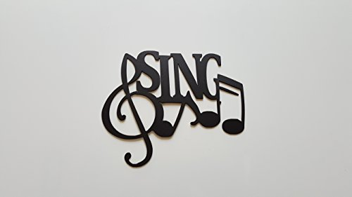 Sing Word and Musical Notes Metal Wall Art (Wall Decor Cheap)