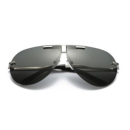 100 UV De Plata Aire Color La Conducción Plata Libre Polarizada Protección Anti Sin Sol Gafas Clásico De WYYY Hombres Gafas Gafas Marco Plegable Luz Solar Protección La UVA P4gnB1X