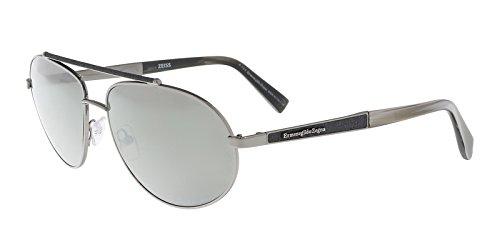 Ermenegildo Zegna EZ0037/S 12C Silver Aviator Sunglasses for - Zegna Couture