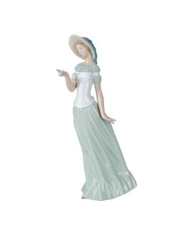 Nao by Lladro Collectible Porcelain Figurine: THE BUTTERFLY'S DANCE - 12