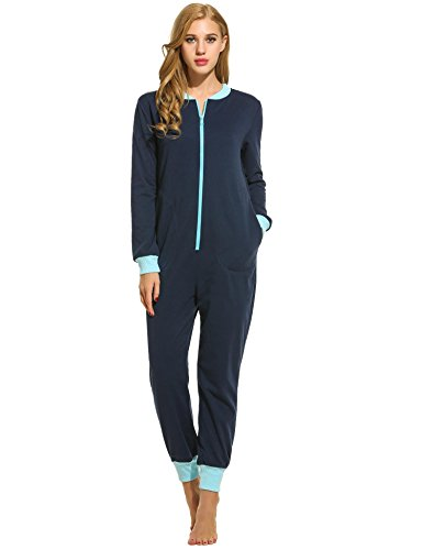 Ekouaer Women痴 Jumpsuit One Piece Non Footed Pajama Playsuit