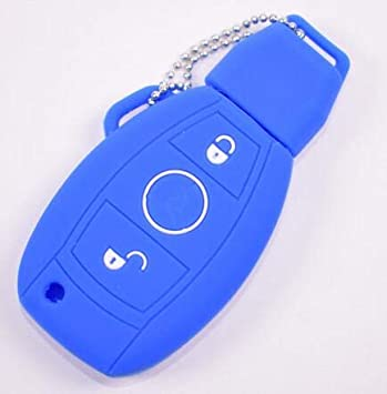 2 Buttons Silicone Key Fob Case Cover For Mercedes Benz W214 W211 A180 A200