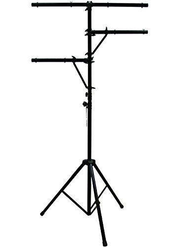 ASC Pro Audio Mobile DJ Light Stand Multi Arm Lighting T Bar Portable Tripod up to 12 Foot Height 12' Tripod Stand