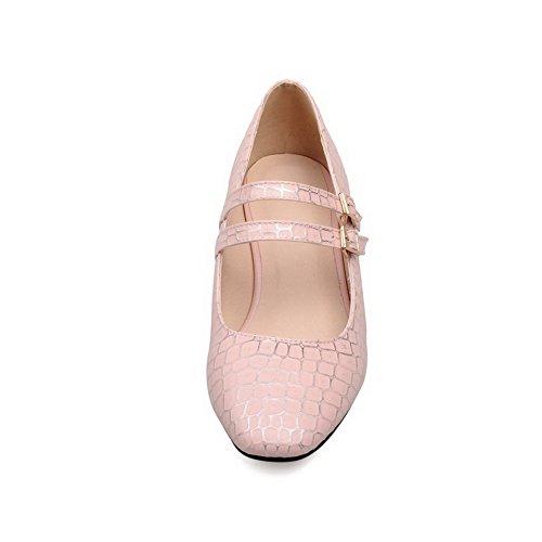 Pompe Balamasa scarpe In pietra rosa Quadrata Imitated Punta Pelle A Rosa xSaIrwqS