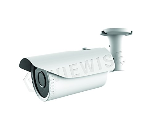 Varifocal Color Bullet Camera - VIEWISE 1080P 2 Megapixel Indoor / Outdoor Surveillance Security Camera Video Monitoring Night Vision 4-in-1 HD-TVI, AHD, CVI, CVBS Camera (White Bullet Varifocal)