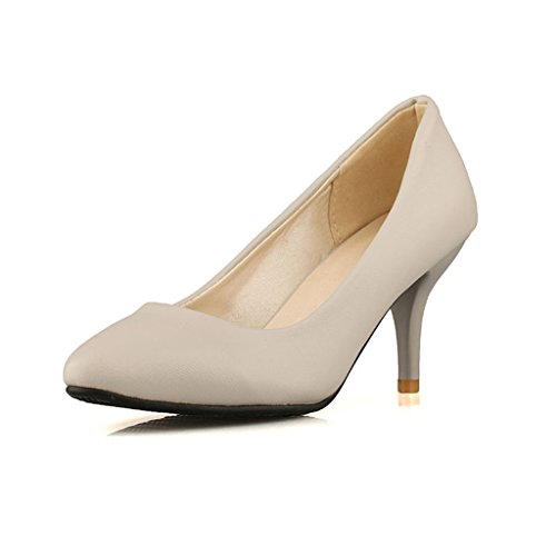 Grey Women High Heel Almond Toe Dear Dear Time Pumps Time Women wvxqCPS7