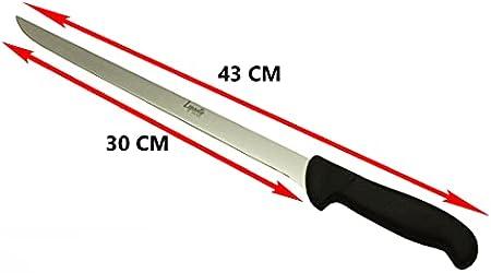 Set cuchillo jamonero 43 cm, cuchillo deshuesador 23 cm, pinzas y cubre jamón, juego de cuchillos de Aleación molibdeno vanadio, LepantoHouse