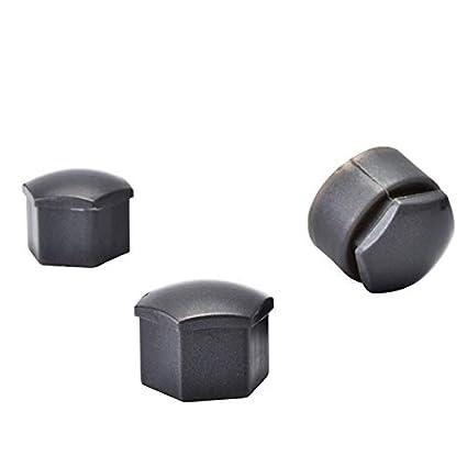 KangFang-Ge Color : Gray 20pcs 17mm Car Tyre Wheel Hub Covers Wheel Nut Bolt Head Cover Cap Locking Caps For Audi A4 A5 A6 Q3 Q5