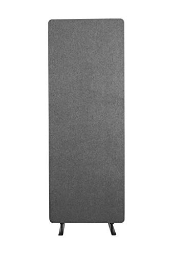 ReFocus Acoustic Room Dividers | Office Partitions - Reduce Noise and Visual Distractions with These Easy to Install Wall Dividers (24 x 66 Freestanding, Ash Gray)