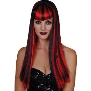 Ladies Vamp Vixen Wig Outfit Accessory for Fancy Dress Womens by Wicked