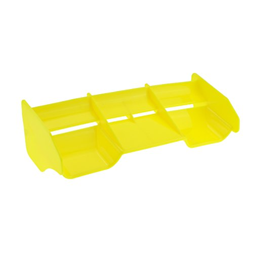 HobbyMarking RC Car 1/8 Off-Road Body Spoiler Hi-Down Force Rear Wing for 1:8 RC Buggy Drift Car Accessories Parts (Yellow)