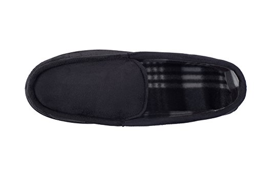 Slip Blue with Moccasin Indoor House Shoes Shoes and Outdoor Navy Checkered Slippers Men's Best Lining Vamp on axqEEw