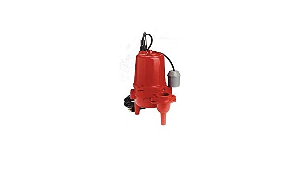 8100 GPH Sewage Pump Red lion RL52SA Sump Accessories 1//2 HP Cast Iron w//Tethered Switch