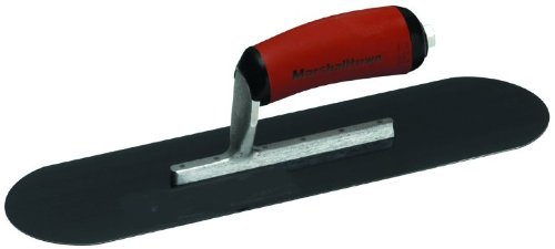 MARSHALLTOWN The Premier Line SP245BD 24-Inch by 5-Inch Blue Steel Pool Trowel with Curved DuraSoft Handle