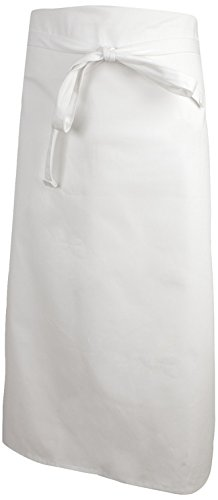 Mercer Culinary M61135WH 4-Sided Bistro Apron,