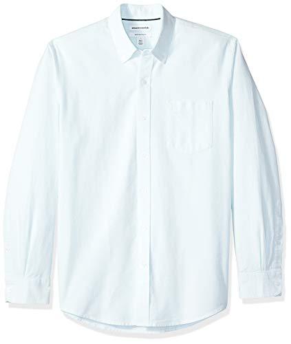 - Amazon Essentials Men's Regular-Fit Long-Sleeve Stripe Pocket Oxford Shirt, Aqua, XX-Large
