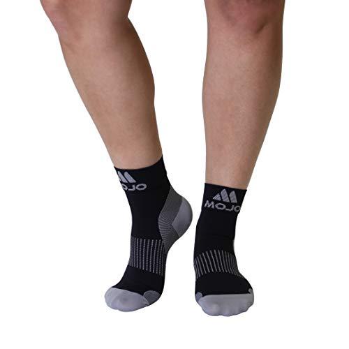 Plantar Fasciitis Sock - Support Ankle Compression Sleeve Socks - Reading Socks - Planter Sleeve Socks - 1 Pair Unisex Heel Pain Arch Support/Ankle Sock (Medium, Black Closed Toe)