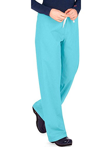 Urbane Essentials Women's Boot Cut Scrub Pants Xx-Large Petite Aqua