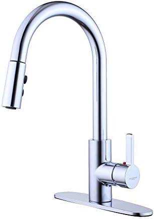 キッチン用水栓 キッチン蛇口 厨房 台所の蛇口キッチン用水栓 シングルレバーステンレス蛇口 伸縮ノズル 360度回転 冷温切り替え 2wayの吐水式 泡沫水流 シャワー水流 (6B-CP)
