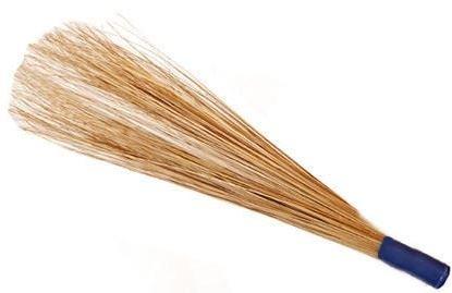 Traditional Indian Coconut Broom Outdoor Garden Sweeping Brush Yard Floor Handle 100cm Concept4u