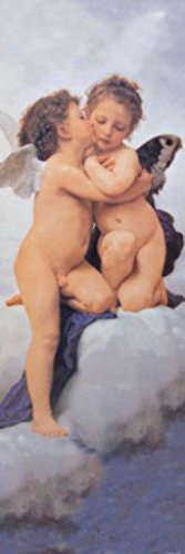 William-Adolphe Bouguereau Poster Photo Wallpaper - The First Kiss, 1882, 1 Part (98 x 31 inches) (Wallpaper Cherub)