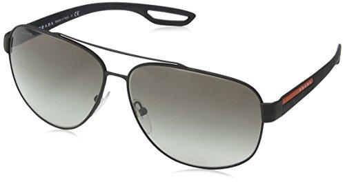 (Prada Linea Rossa PS58QS DG00A7 Sunglasses, Black Rubber/Grey Gradient, 63mm)