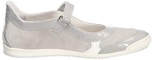 Ninette en Fleur Sportie Sportie-Gris - Bailarinas de cuero para niña, color gris, talla 33 Gris (Gris (Laca perla camoscio grigio))