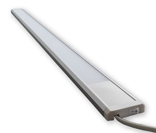 230V LED Licht Leiste 19W ( 120 cm ) inkl. An/Aus Schalter S47 - inkl. Netzstecker