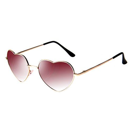 Liansan Women Designer Heart Shape Sunglasses Uv Protection Fashion Red Fq014