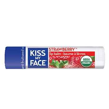 Kiss My Face Organic Lip Care Strawberry Lip Balm (1 tube) 0.15 oz.