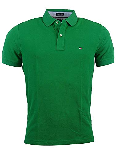 Tommy Hilfiger Men's Classic Fit Polo (Large, Green) (Men Tommy Pack Hilfiger Tshirt)