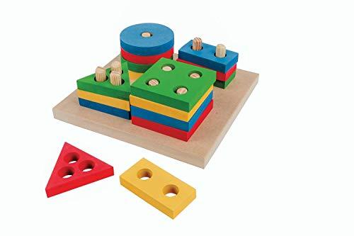 Carlu Brinquedos - Prancha de Seleção Pequena  Jogo Educativo, 3+ Anos, 16 Peças, Multicolorido, 1078