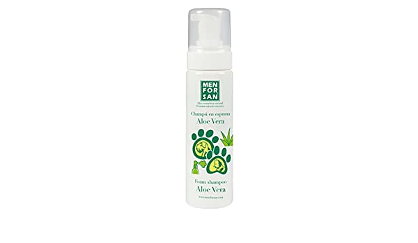 Amazon.com: Champú Espuma Aloe Vera para Perros 200 ml - Para Perros y Gatos - Menforsan: Beauty