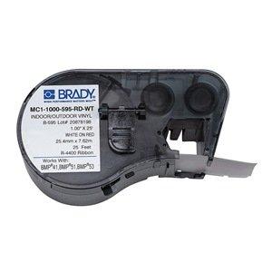 Brady MC1-1000-595-RD-WT cinta para impresora de etiquetas ...