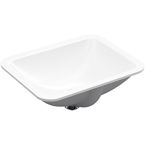 (Kohler Caxton Rectangle Under Mount Bathroom Sink in White)