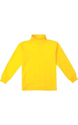 Children Turtlenecks: Boy or Girl's Turtlenecks (5, Bright Yellow)