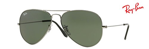 Ray Eyewear Bundle Gunmetal Metal Sunglasses w0879 With ban Deluxe Rb3025 Aviator Large Accessories OPnOqpr