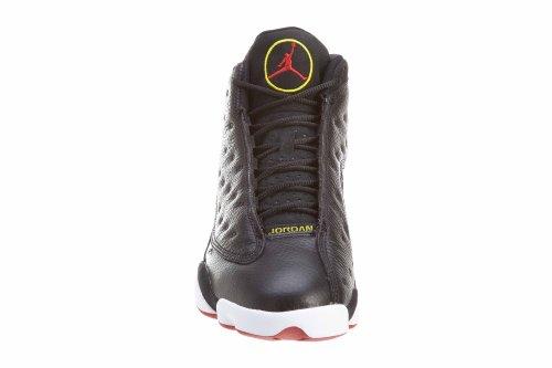 "Herren Jordan Air 13 Retro ""Playoffs"" Basketballschuhe - 414571 101 Blk, Vrsty Rd-weiß-vbrnt Yllw"