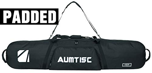 AUMTISC Snowboard Bag Padded for Travel Bag with Storage Compartments Available Length in 165cm Black