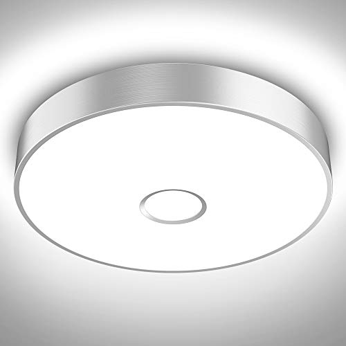 Onforu 32W LED Flush Mount Ceiling Lights, 2800lm Bedroom Ceiling Lamp, IP65 Waterproof Round Surface Bathroom Ceiling Light Fixture, 5000K Daylight White 300W Equivalent for Hallway, Kitchen, Balcony
