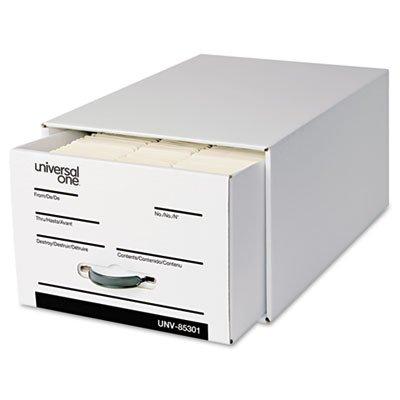 Universal One Heavy-Duty Storage Box Drawer, Legal, 17 1/4 x 25 1/2 x 11, White, 6/Carton