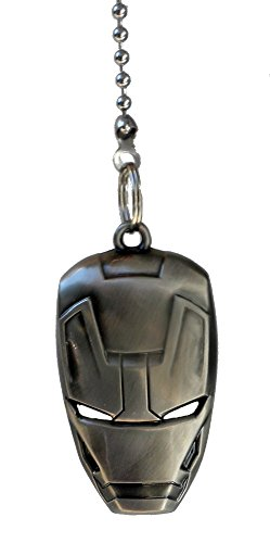 DC & Marvel comics SUPER HERO superhero character PEWTER Ceiling FAN PULL light chain (Iron Man Mask - (Helmet For Disabled)