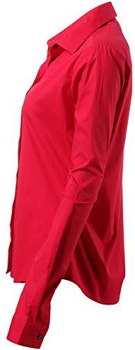 83da3a1613144 Trabajo Harrms boda Rojo ceremonia fiesta reunion Elástica Formales Vestir  Clásico Mujer casuales Diseño De ocasiones Camisa rBqvrx0