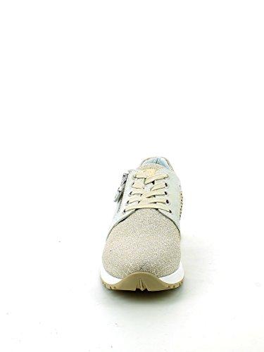 Sneaker Zip Nero con 40 Beige Laminata Giardini 55x6XF