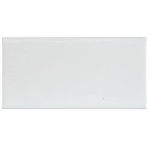 SomerTile WXRPSWBN Pente Subway Bullnose Ceramic Wall Tile, 3