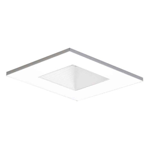 HALO Recessed 3011WHWB 3-Inch 15-Degree Trim Adjustable Square with Baffle, ()