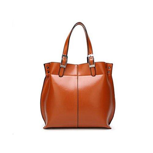 Womens Ladies Designer Celebrity Real Leather Medium Shoulder Handbag Brand New Brown
